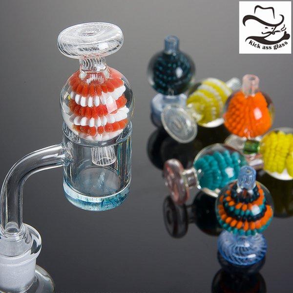 Beracky US Farbe Glas Blase Carb Mütze Ball Glaskapseln für Schrägkante Quarz Banger Nägel, Glas, Wasser Bongs Rohr Dab Rigs 967