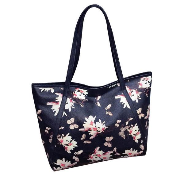 good quality Fashion Floral Printing Women Messenger Bags Pu Leather Handbag Tote Shell Bags Female Crossbody Bag Satchel Bolsos
