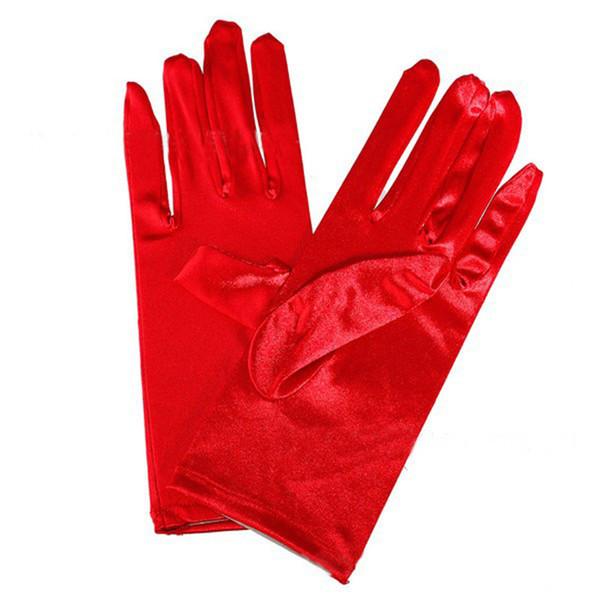 Bunte braut kurze handschuhe frauen dame dance performance wear handschuhe hochzeit kleid dekoration