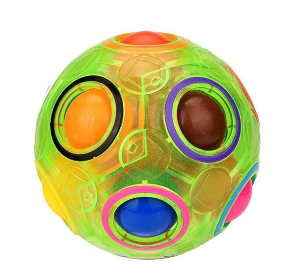 DHL Luminoso Bola Arco Iris Cubo Mágico Velocidad Fútbol Glow Diversión Rompecabezas Esféricos Niños Juguetes Educativos de Aprendizaje Juegos para Adultos Regalo de Navidad