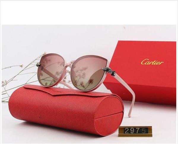 Diseñador Polarizerd Gafas de sol para hombre Espejo de vidrio Gril Lense Vintage Gafas de sol Gafas Accesorios para mujer con caja 2975 #