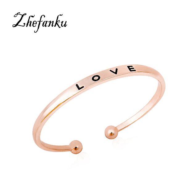 Einfache Liebe Armbänder Farben Armband für Frauen Armreifen Schmuck Geschenke