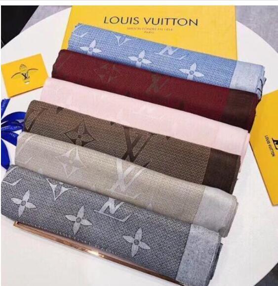 Bufanda de seda de primavera anillo de cuello largo y cálido de la mujer Carta bufanda de la manera del regalo de Navidad al por mayor de 180x90cm WMNsuprema HKLFendi