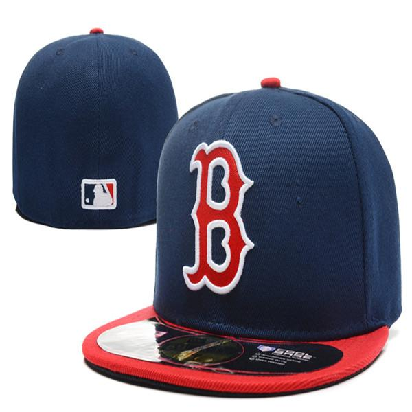 Viele Farben Männer Mützen Red Sox Baseball Mützen mit flachem Rand und gesticktem B-Logo auf dem Feld Atlanta-Fans mit geschlossener Kappe