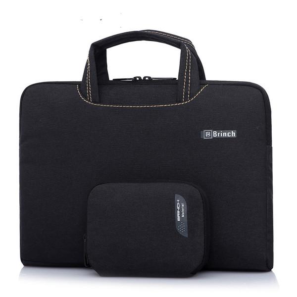 Brinch 13 13.3 14 15.6 pouces Imperméable Laptop Sleeve Sac à main Sac à bandoulière Etui pour ordinateur portable Etui pochette avec un sac de souris