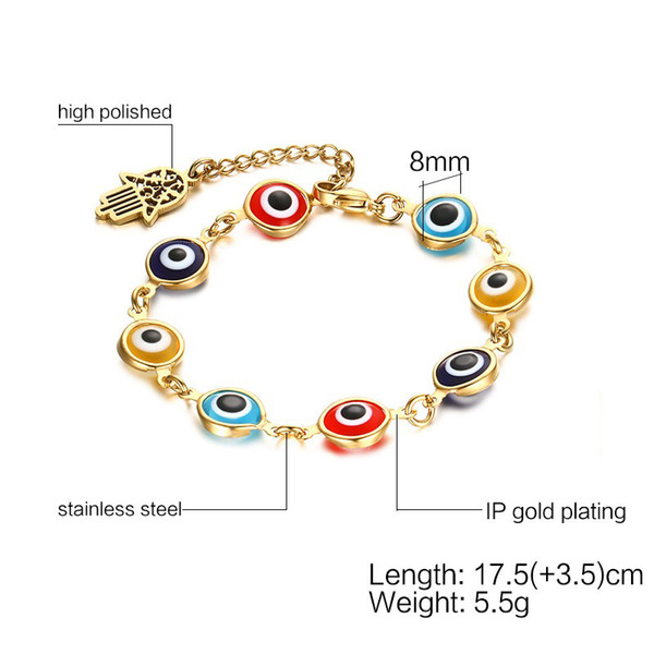 lacer dans chaussures de séparation marques reconnues 2019 Bangles For Women Meaeguet Hamsa Bracelets &Amp; Bangles For Women  Stainless Steel Evil Gold Color Hand Chain Female'S Eye Jewelry From  Feng112, ...