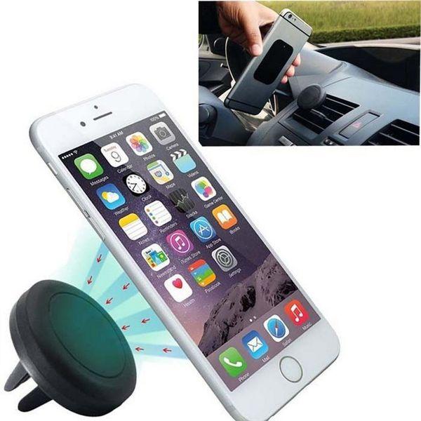 Universal Car Air Vent Mount Clip Clip magnético Dock para iPhone para Samsung Soporte magnético Tablet GPS suporte para celular Envío gratis