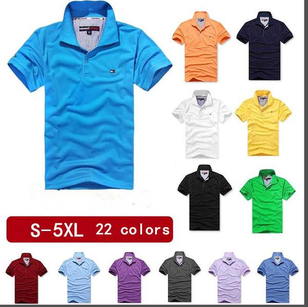 2019 Roupas de Marca Mens Camisas Polo de Algodão Respirável manga Curta Homem de cintura larga Turn-down Collar Tees Camisa Plus Size 5XL