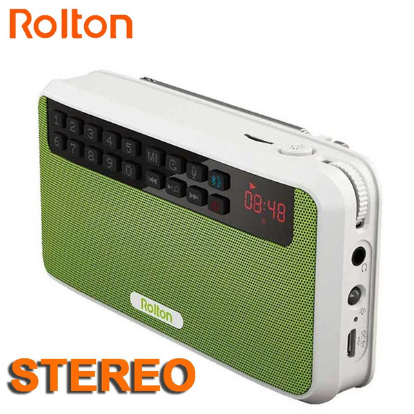 Rolton E500 Mini Bluetooth Hoparlör Kutusu Desteği Bluetooth Telefon Görüşmesi / TF Kart / MP3 / FM Radyo / Kulaklık / LED Işık / hoparlörler / REC