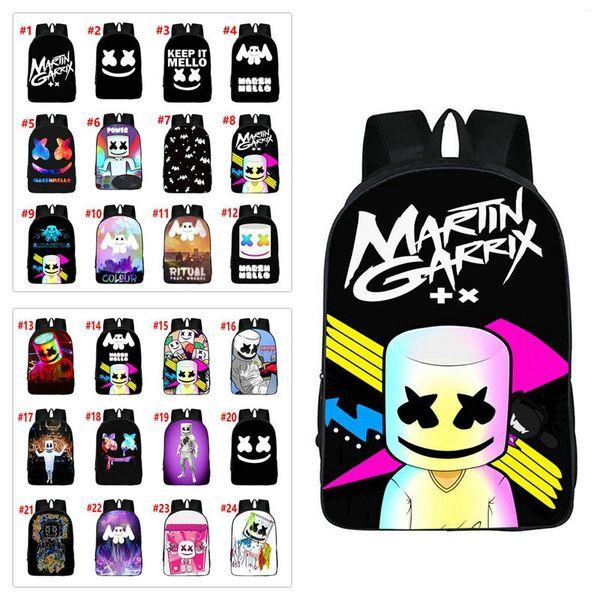 27styles Marshmello DJ kids School Bag student backpack for girls boys teenagers children's cool bookbag kids handbag 20pcs