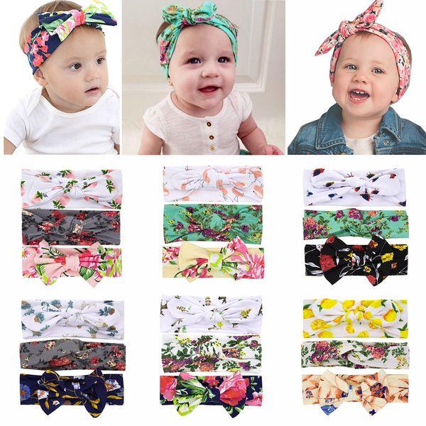 3Pcs New Kids Cute Toddler Elastic Baby Tiara Kid Headband Flower Bow Hair Band