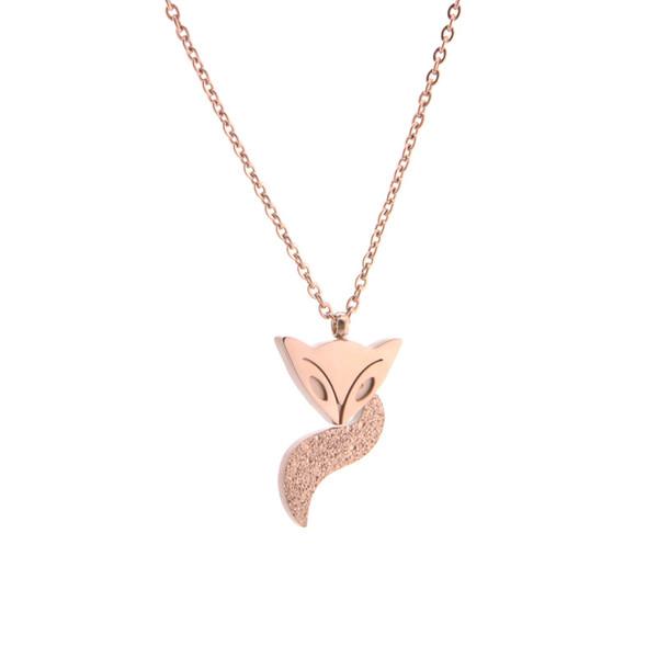 Titanium steel abrasive clavicle chain Non-fading Necklace Fashion Rose Gold Necklace Fashion jewelry pendant Ethnic Style Pendant Fashion a