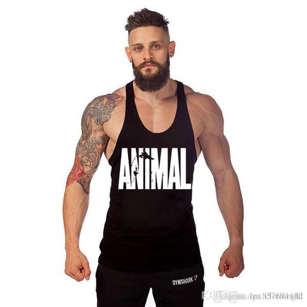 Марка тренажерный зал жилет одежды фитнес мужской мышечной бодибилдинг Undershirt безрукавки мужчин тренажерном зале танка без рукавов синглетный одежды