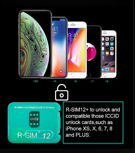 100% ORIGINAL RSIM12+ R-SIM 12 unlock ios 12.3.1 perfect Sprint T-MOBILE iphonex xs 8 7plus i7 6s plus AU softbank 4G wcdma JAPAN MEXICO