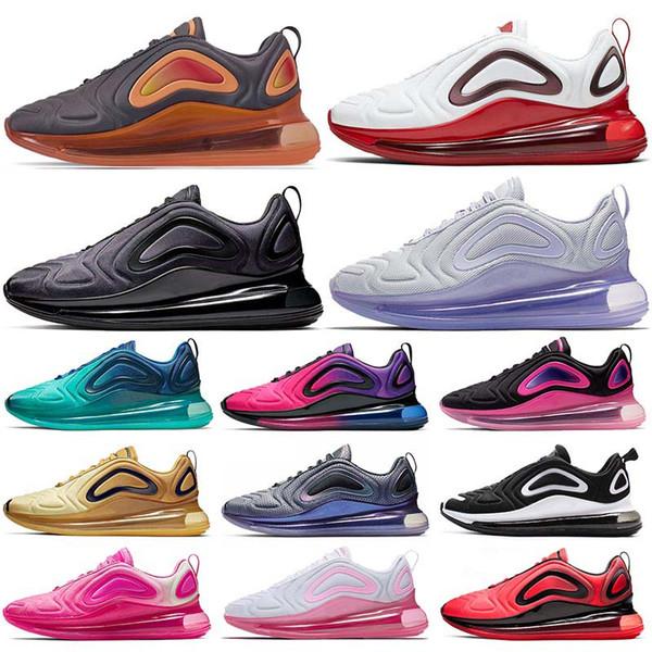 Compre Nike Air Max 720 Air 720 720s Hombres Mujeres Zapatillas De Tenis Negro Rojo Rosa Mar Carbono Oxígeno Púrpura Zapato Deportivo Zapatillas De