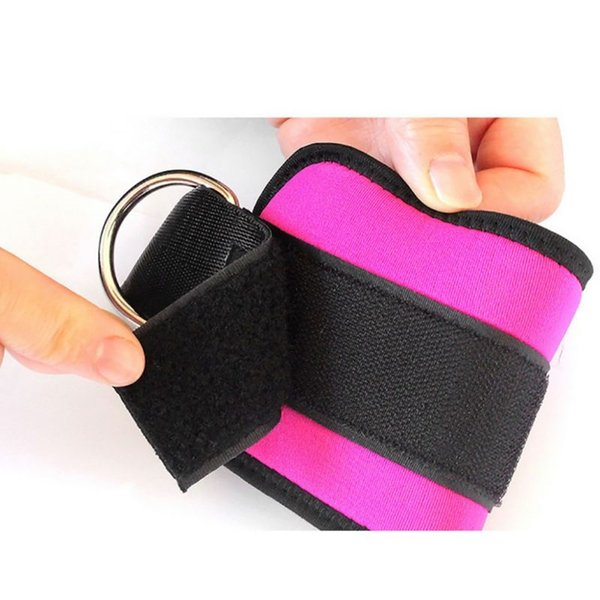 1Pcs Leg Anchor Strap Pad Tubes Exercise Strength Leg Training Weight Plus Force Foot Ring Buckle Adjustable Ankle Protector #224911