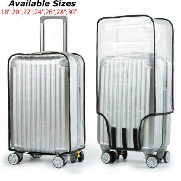 유니버설 방수 PVC 투명한 수하물 가방 커버 여행 안티 스크래치 가방