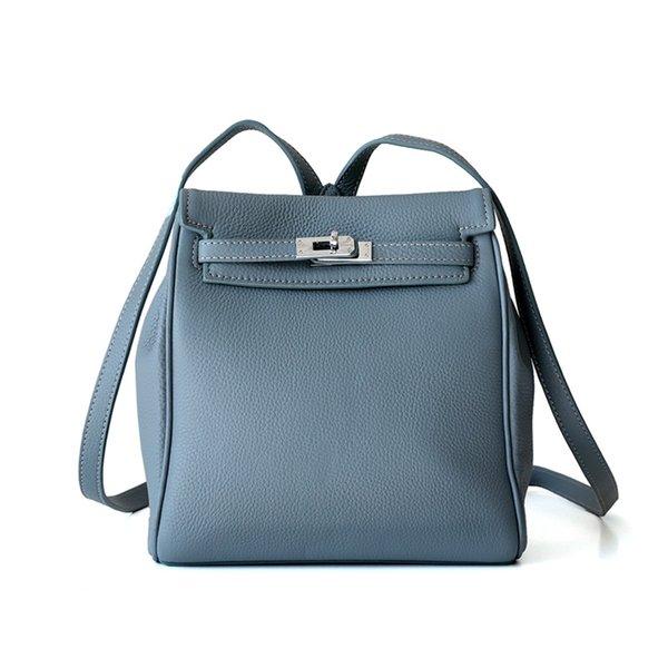 мода кожа Келли сумки на ремне Леди Стильный и простой Head из натуральной кожи Рюкзак для женщин