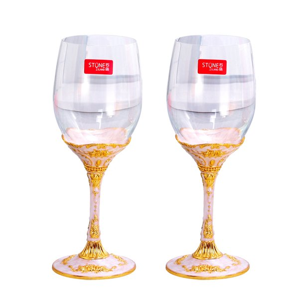 European High quality Creative Lead-free Crystal Red Wine Glass wine Cup 2 pcs goblets Small luxury crystal Family Drinkware