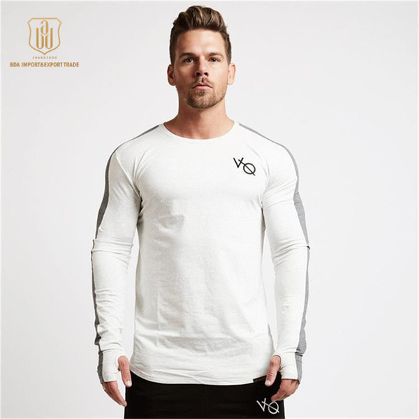 Autumn Sport Shirt Men White Quick Dry Rashgard Long Sleeve Compression Fitness Top Sportswear Gym Running Shirt Men Tee Tops Jersey