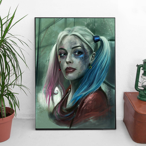 Suicide Squad Harley Quinn Marvel Avengers Comics Art Canvas Poster Painting Wall Picture Print For Home Bedroom Decoration