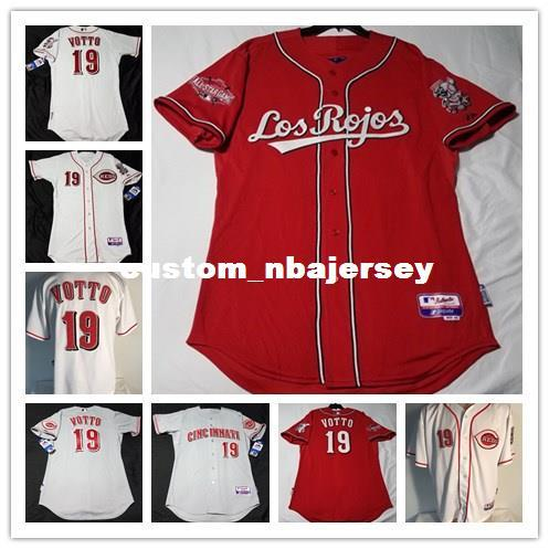 Cheap Custom JOEY VOTTO #19 COOL BASE jerseys Stitched Retro Mens jerseys Customize any name number MEN WOMEN YOUTH XS-5XL
