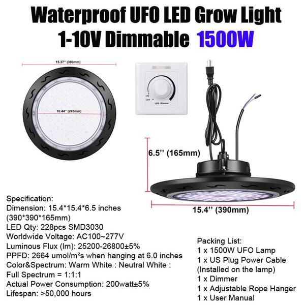 1500W 디 밍이 UFO와 주차
