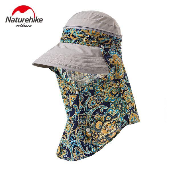 Marque NatureHike Summer Printed Sunhat sun block face chapeau de plage écran solaire