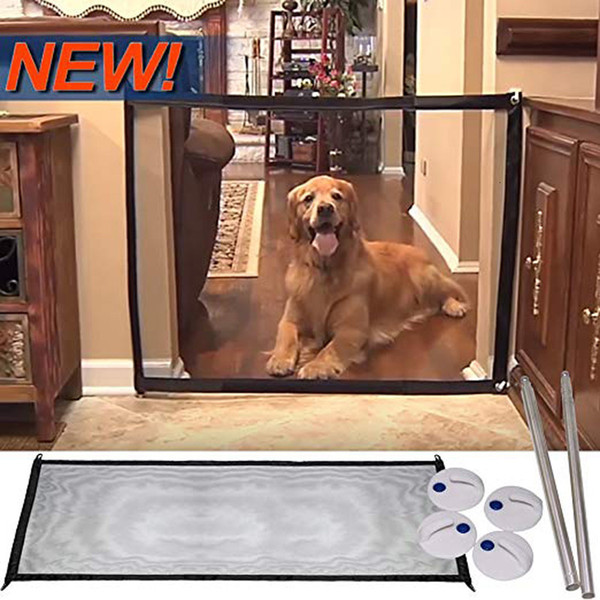 Safety Enclosure Dog Gate Barrier Mesh Safe Pet Anywhere Magic Guard/&Install E3