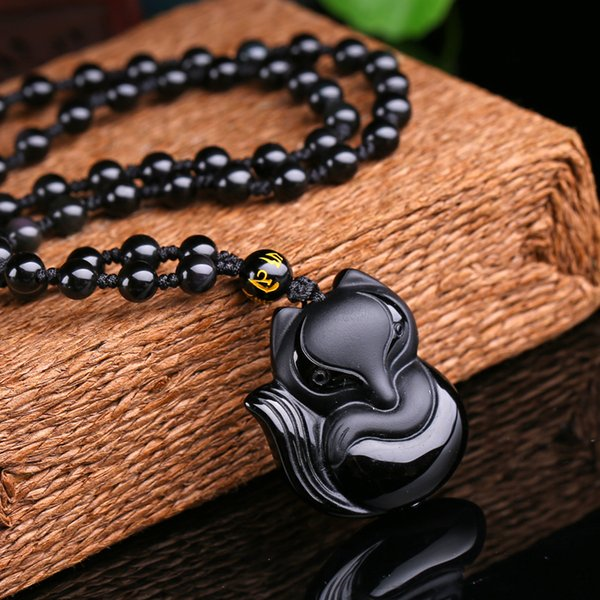 Hand Carved Obsidian Monkey Pendant Charm Monkey Amulet Charm Pendant