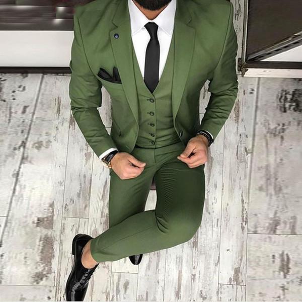 Trajes De Hombre Erkek Pantolon Ile Ismarlama Takım Elbise Blazer Boyutu Erkekler Düğün Için Suits / Akşam / Akşam Yemeği Damat Parti Suit Erkekler smokin
