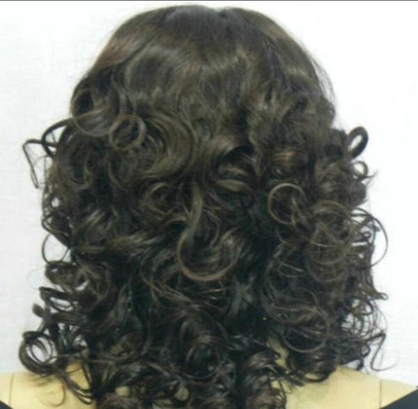 Peruca frete grátis quente resistente ao calor partido hairnew peruca cosplay longo encaracolado preto resistente ao calor peruca