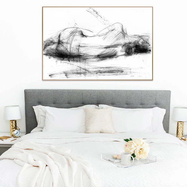 Some Art Drawing Painting On Bedroom Wall Ideas