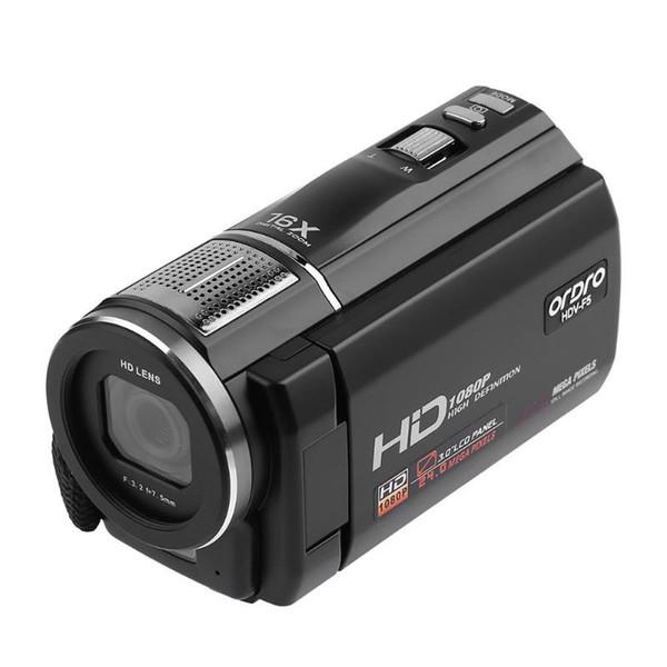 Ordro HDV-F5 Caméra vidéo numérique à écran tactile 3 pouces 24MP Caméscope à zoom 16X Full HD DV Plug UE