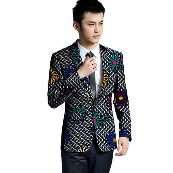 African print men's blazer handmade African Men leisure suit jacket wedding/party Blazer coat male clothes