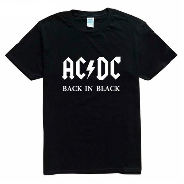 Neue Camisetas AC / DC Hip Hop Banda Felsen Camisas T-shirt Drucken Maneira T-shirt Baumwolle O Pescoço Blusa Seco Fit Tops Mann T Hombr