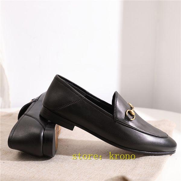 Italian fashion design luxury womens shoes Genuine Leather casual flat bottom shoes original logo ladies sport shoes size 35-40 Drop Ship-26