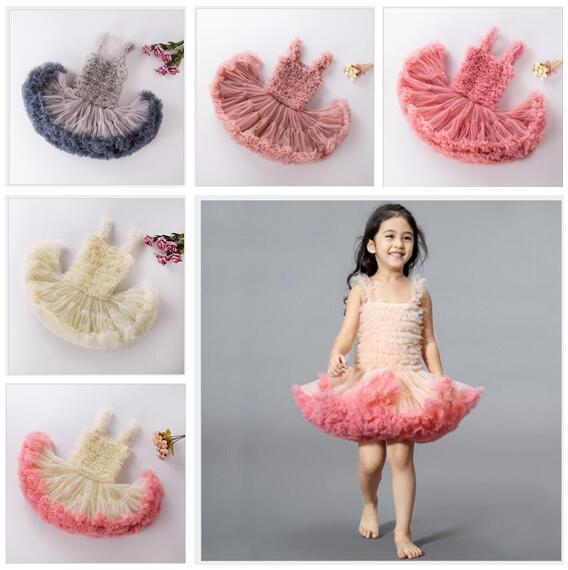Tutu Toddler Baby Girls Dress Bambini Princess Rose Flower Lace Layered Tutu Gown Fancy Dresses Party Wedding Pageant Dress Abbigliamento per bambini