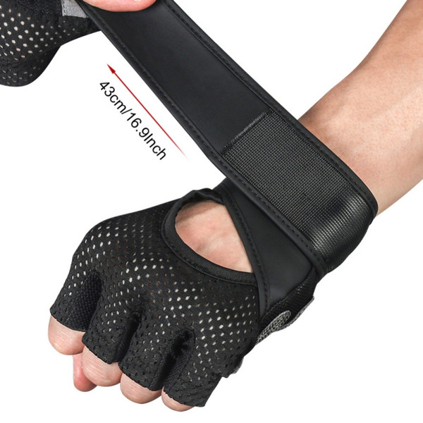 Half Finger Gloves Breathable Gym Gloves Dumbbell Weight Lifting Body Building Anti-slip Cycling Fitness Training Workout