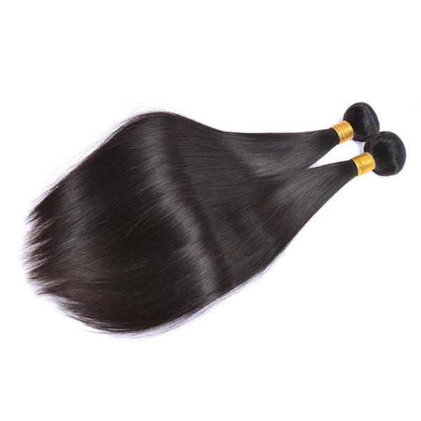 Brezilyalı Düz Bakire Saç Atkı 3 Paketler Doğal Siyah 100% Işlenmemiş Brezilyalı Düz İnsan Saç Uzantıları Ucuz Brezilyalı Saç