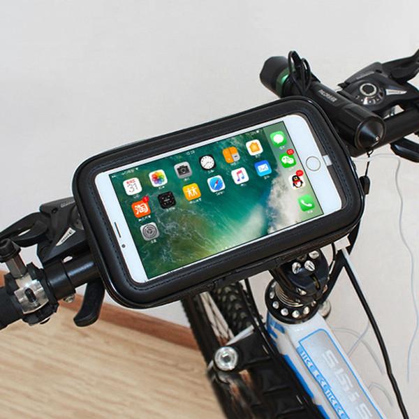 "Universal Waterproof Bike Motorcycle Handlebar Mobile Holder 3.5-6.5"" Cell Phone Gps Bicycle Support J190507"