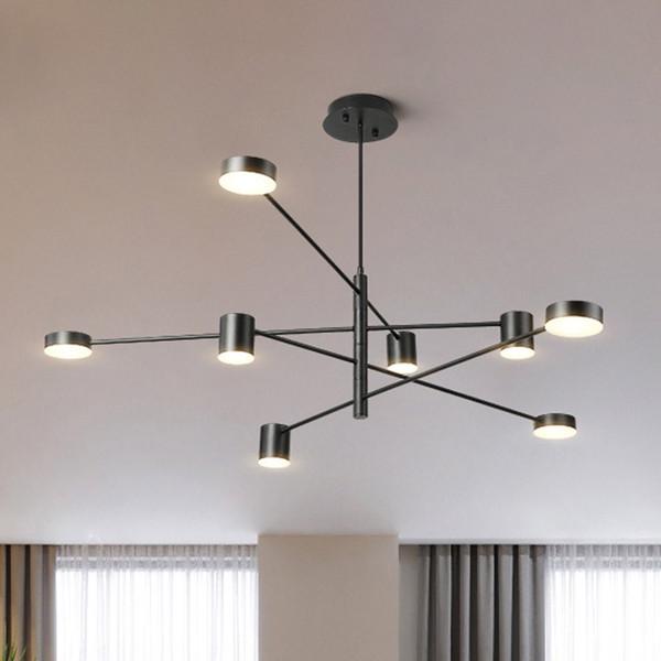 Compre Moderno LED Lámpara Colgante Comedor Nórdico Lámpara De Cocina  Lámparas Colgantes Luminaria Grande Negro Blanco Oro Iluminación De Techo A  ...