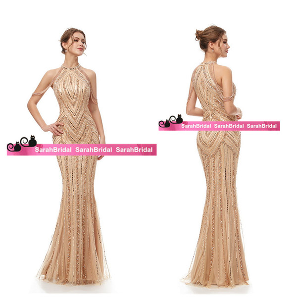 top popular New Best Selling In Stock Mermaid Evening Dress Luxury Off The Shoulder Prom Dress African Vestido de noche Formal Pageant Party Dress 2020