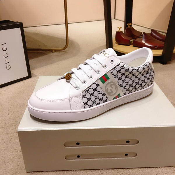 2019y new leather men's casual shoes, trend wild fashion shoes, DHL delivery all inclusive original, yards 38-45