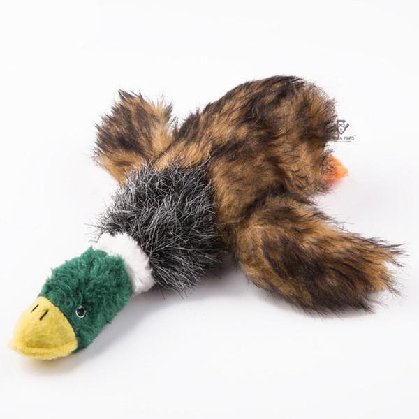Juguete para perros Sonido Perro de peluche Juguetes para perros Rellenos Pato chirriante Juguete para perros Perro de peluche Pato de campana grande para perros Mascotas Chew Squeaker Squeaky Toy C