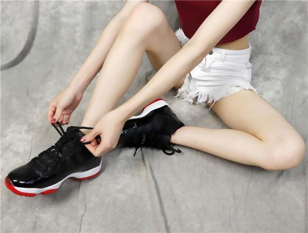 Yeni 11 basketbol ayakkabıları 11'leri erkekler ve kadınlar UNC spor yüksek ve düşük boşluk Jam mavi gül altın lacivert Sakız Concord 23 45 Uzay Jam spor ayakkabılar C15 kırmızı