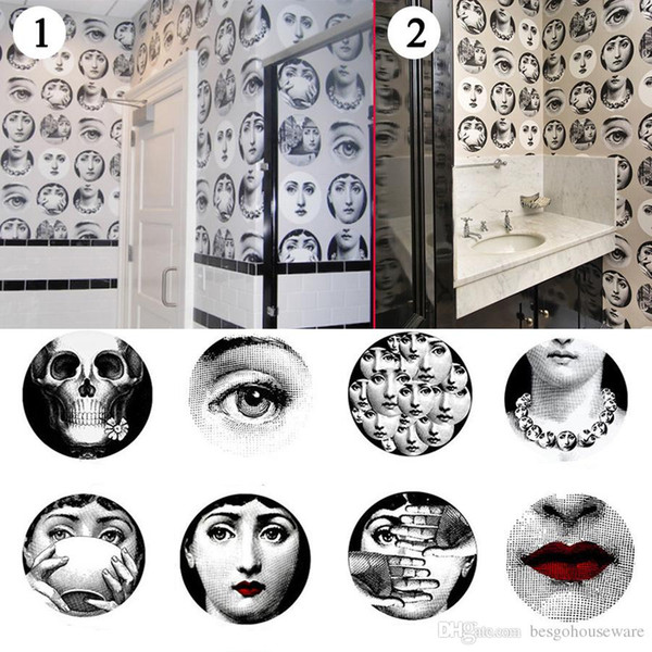 top popular Multi Styles Wall Stickers Living Room Decoration Creative Design Vintage Wallpaper Stickers Coffee Bar Retro Decor Wall Stickers BH0727 TQQ 2021