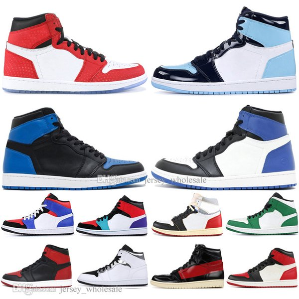 1 OG Verboten Bred Toe Spider-Man UNC 1s Top 3 Herren Basketball Schuhe NEIN Für den Weiterverkauf Chicago Royal Blue Herren Athletic Sports Designer Sneakers