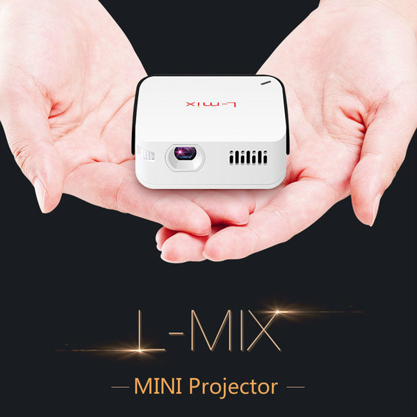 best selling L-mix Portable Mini Handheld Mobile Phone Projector Home Wifi Wireless HD 1080P Smart Micro-projection Projector