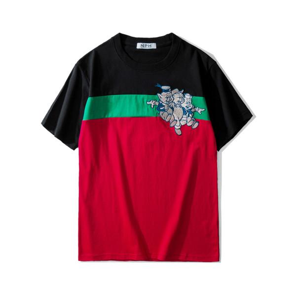Mens Designer t shirts Animal Print Tide Clothing tshirts Hip Hop streetwear tee shirts for men
